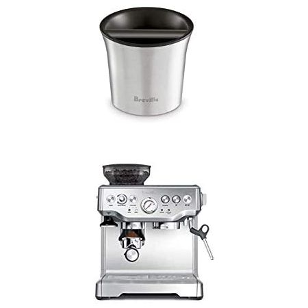 Breville BES870XL Barista Express Espresso Machine and Breville BCB100 Barista-Style Coffee Knock B, One Color_One Size