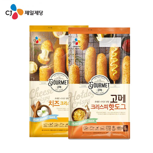 CJ 고메 크리스피 핫도그 480g(80g X6입)+치즈 425g(85g X5입), 1box
