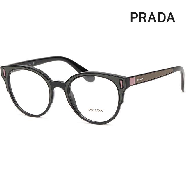 프라다 명품 안경테 VPR08U-SVK1O1 동그란 뿔테