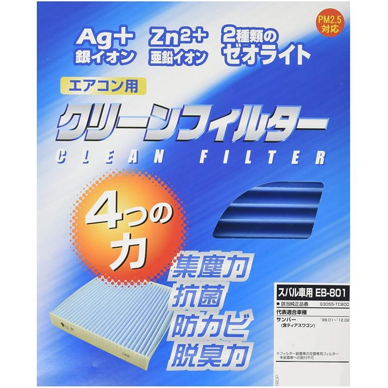 PMC (퍼시픽 공업) 에어컨 필터 - 클린 필터 EB (이펙트 블루) EB-801