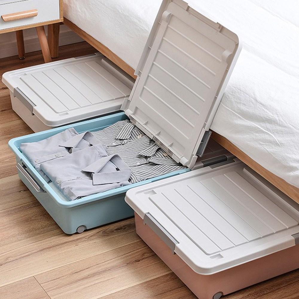 침대밑수납 침대 밑 수납 정리함 언더베드 정리 박스 이불 옷 다용도 보관함 수납함 특대, 1개 (POP 5816201504)