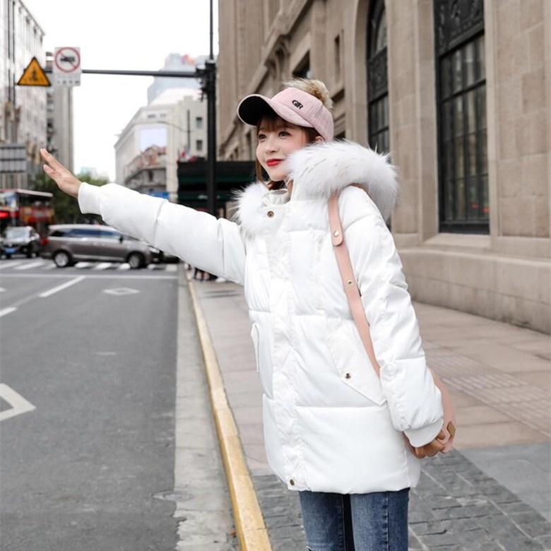 Dec.28 842번 면 저고리 오버핏 패딩에 두꺼운 패딩 여학생 제빵복 겨울 아우터 패션Z