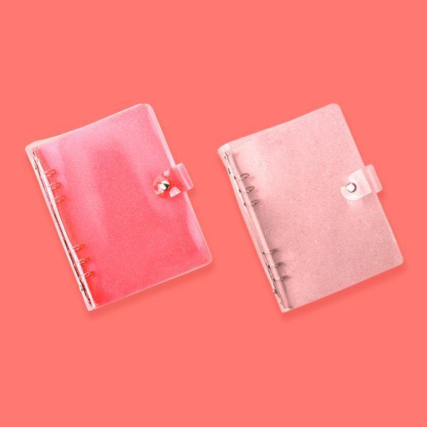 루카랩 02 Glitter pink 핑크글리터-루카랩 6공다이어리 A5 PVC 커버-글리터 2종, 02 Glitter pink 핑크글리터