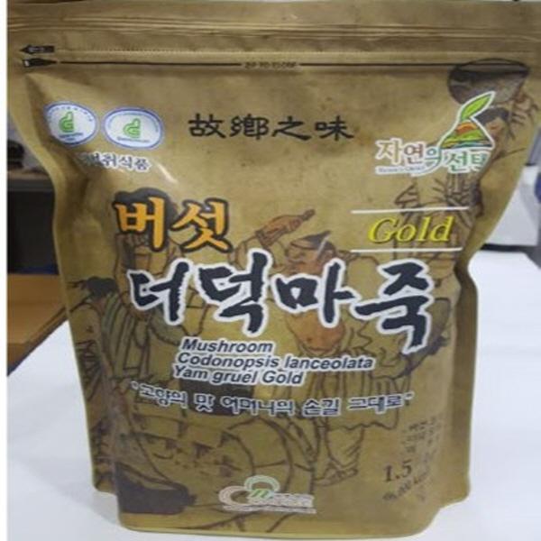 웰빙건어물[엔-초이스]버섯더덕마죽 버섯더덕마죽골드 1.5kg 식사대용 환자식사대용, 1봉