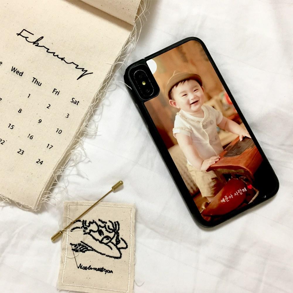 요술램프지니 심플포토 터프(TPU ) 범퍼 주문제작 포토 커플 사진 폰케이스 제작 휴대폰 케이스