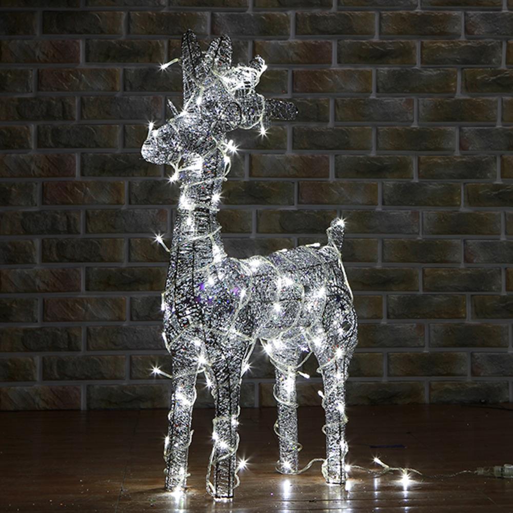 크리스마스 인테리어 장식 LED 사슴 50cm LED조형물 사슴트리
