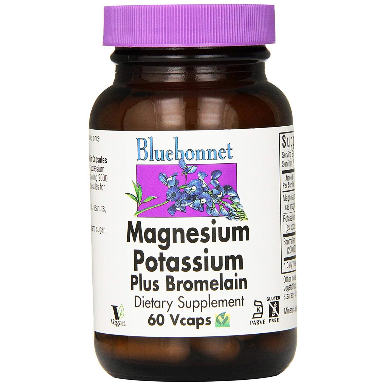 블루보넷 마그네슘 포타슘 플러스 브로멜라인 브이캡, 60개입, 1개