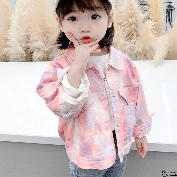 굿데이 컴퍼니 여아 캐주얼 봄 가을 얇은 데님재킷 아동 바람막이 청점퍼 패션 코트 lGNW01