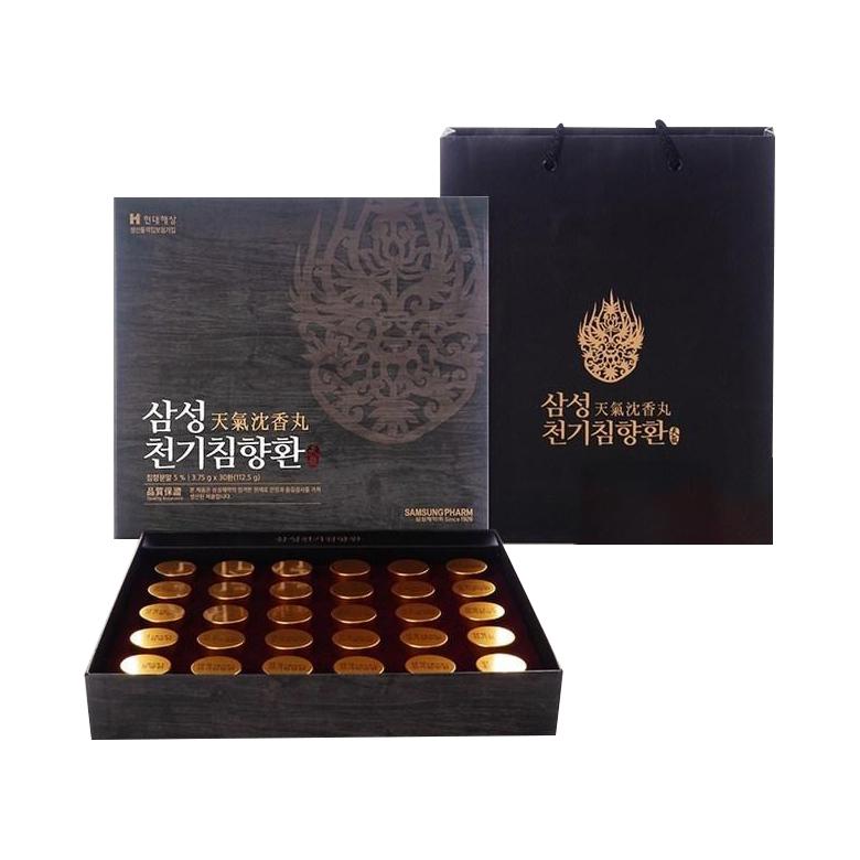 삼성제약 천기 침향환 + 쇼핑백 3.75g 30환, 1개