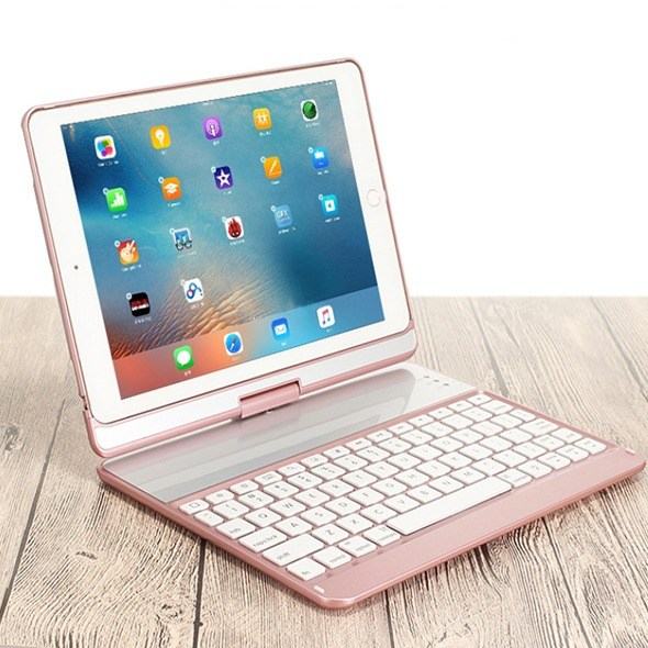 아이패드9.7 인치(5세대 6세대 Air2 9.7프로) 키보드케이스, 로즈골드