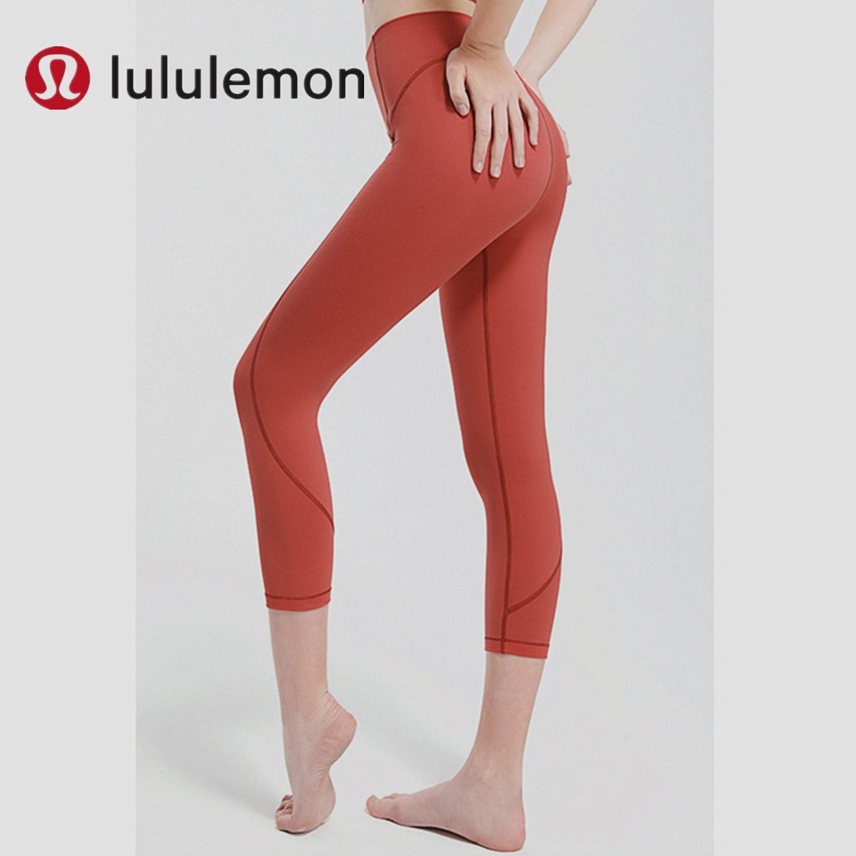 룰루레몬 요가 필라테스 여성 상의 세트 옷 복 레깅스 달리기 스포츠 높은 허리 복부와 엉덩이 7 점 요가 바지