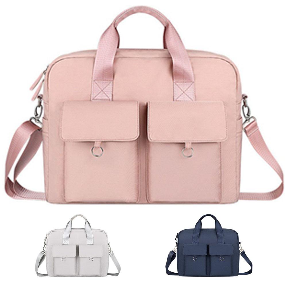 다올 2포켓 대용량 노트북가방 17인치게이밍노트북 학생 여행 가방, 핑크