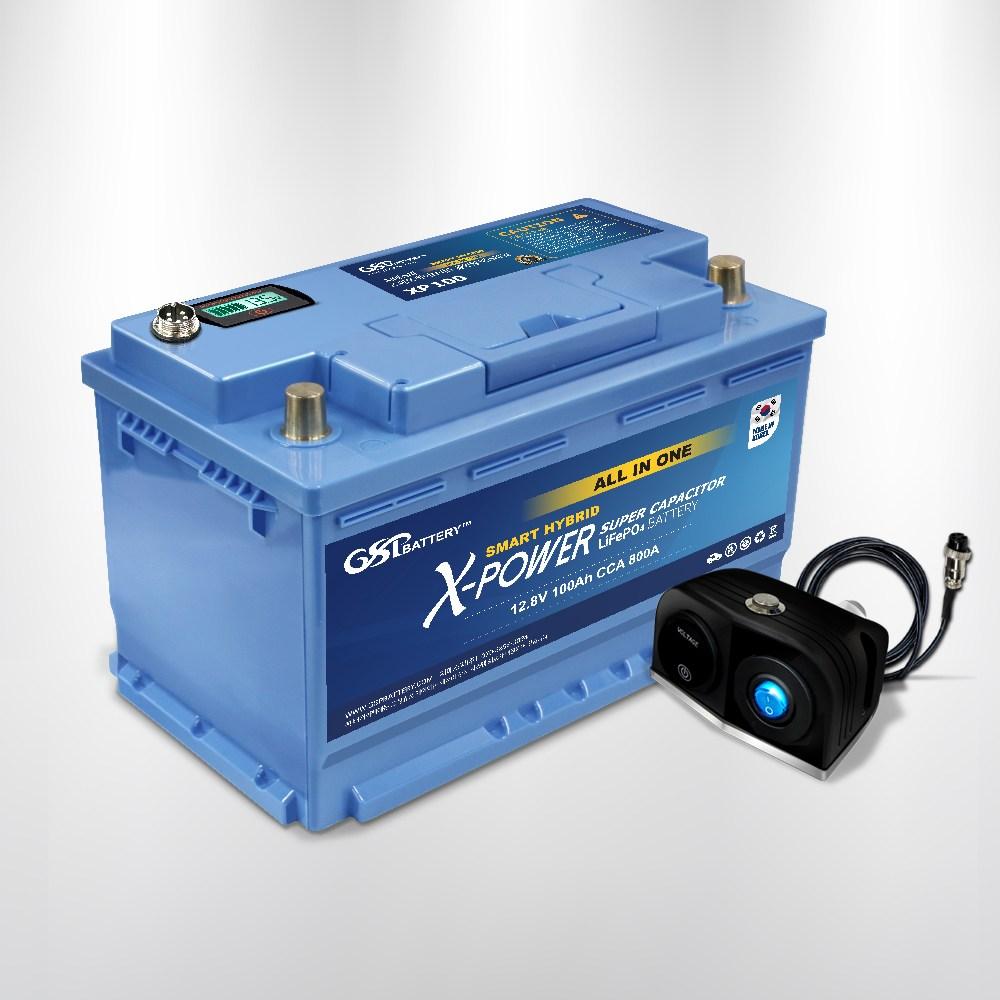 지에스피 3세대 올인원 엑스파워 리튬인산철 자동차 배터리 XP 100A DIN L (POP 5200964417)