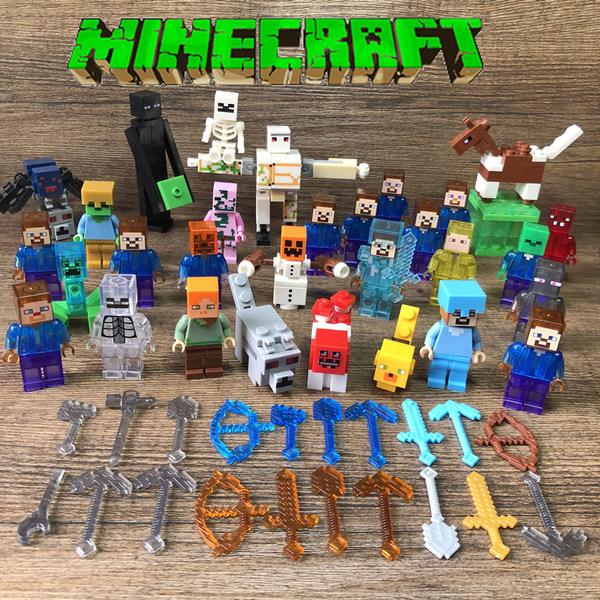 마인크래프트 피규어 장난감 블록 세트 인형 조립, Minecraft 32 디럭스 에디션