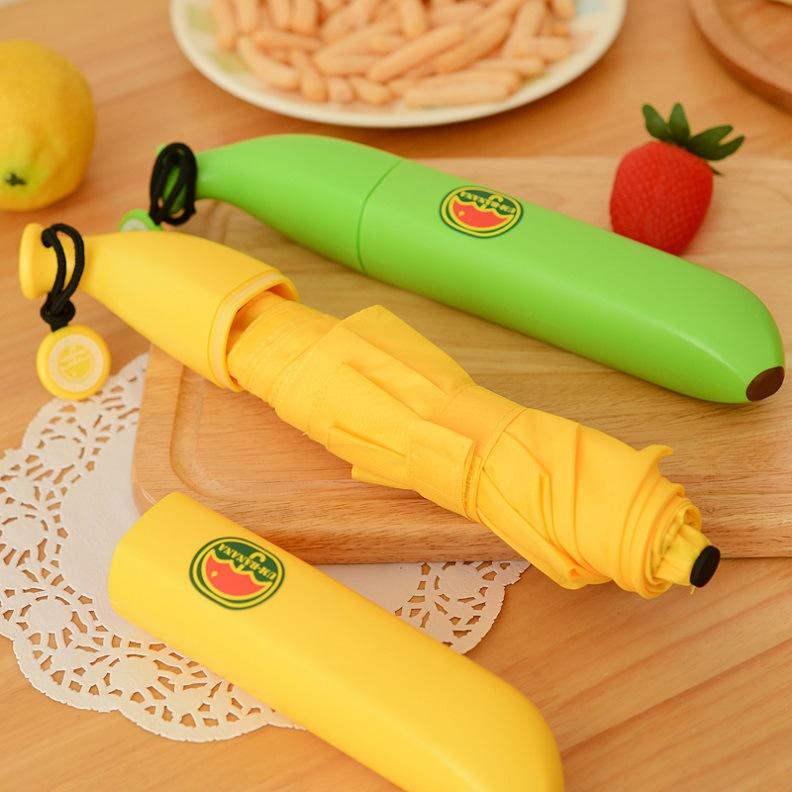 더블엠 잘익은 바나나우산/과일우산 쓸데없는 선물