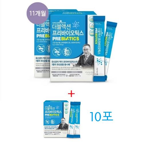 메이준 더블액션 프리바이오틱스 11박스/11개월 + 10포/10일분, 11개월+10포