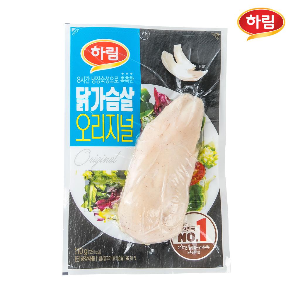 (무료배송)_ 하림 닭가슴살 오리지널 110g 10입, 1BUT_ 110g 10입
