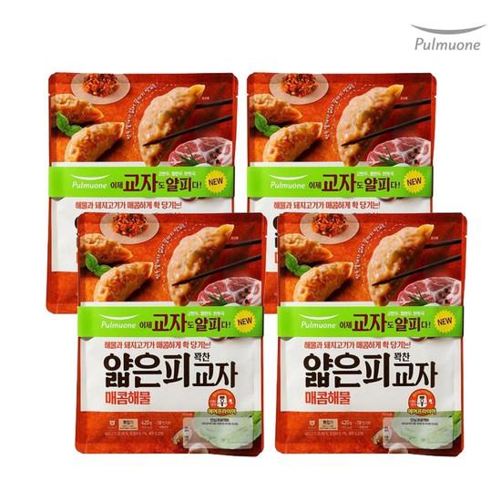[풀무원]생가득 얇은피 매콤해물 교자만두 8봉420gx8, 없음, 상세설명 참조