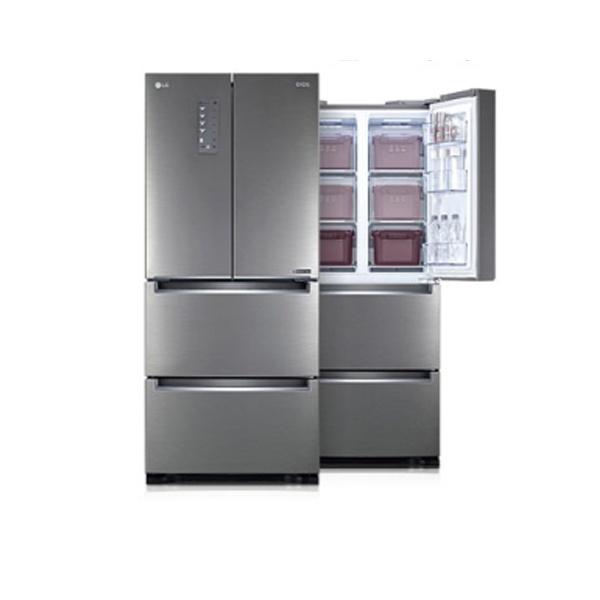 two1mall [LG전자] 프리미엄 김치냉장고_스탠드형 / 4도어(4룸) 용량: 402L 용기: 14개 냉장+냉동겸용 냉동겸용칸: 상칸 순환냉각 쿨링케어 유산균가드, 605281
