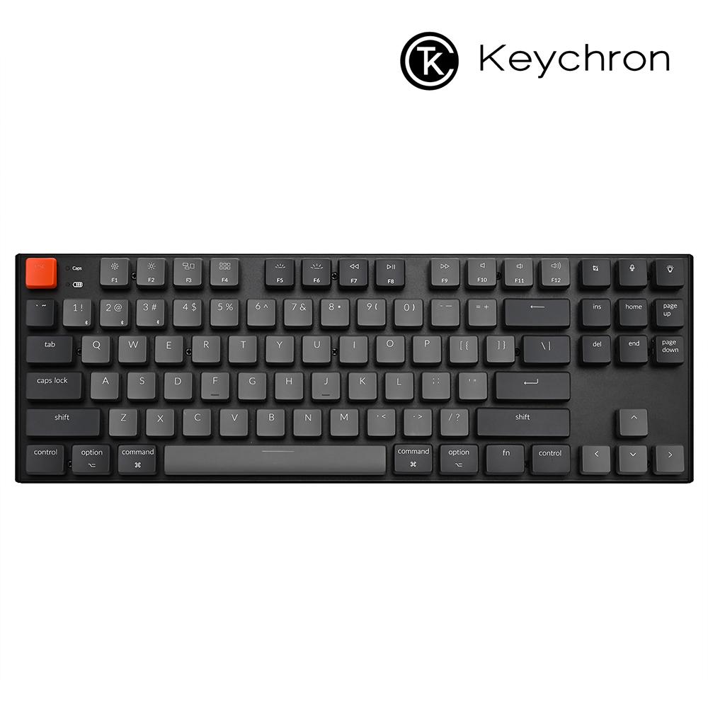 키크론 정품 K1 V4 텐키리스 LED 무선 기계식 키보드, 갈축(L3)