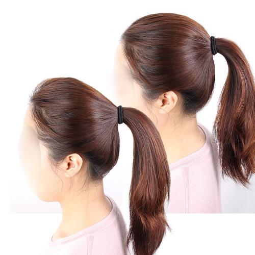 셀프붙임머리 뒤통수뽕 붙이는가발 붙임머리 머리뽕, 1개, 내츄럴블랙