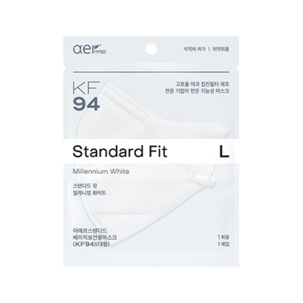 아에르 스탠다드 핏 KF94 마스크 대형 10매