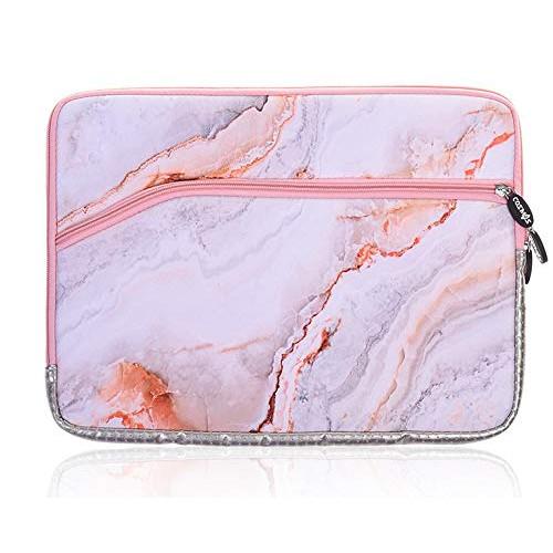노트북 파우치 LuvCase Laptop Protective Sleeve Waterproof Case Bag with Pocket Compatible MacBook 12&quot A1534/ MacBook Air 11.6 inch Surface Pro 543, Size = 11 - 12 Inch | Color = Purple Briefcase