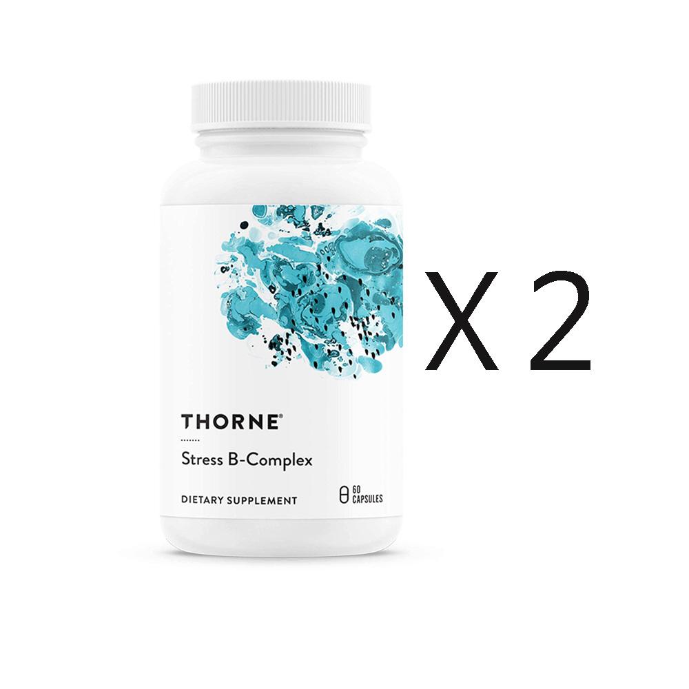 쏜리서치 스트레스 B 콤플렉스 비타민 60정 X 2병, 단품, 단품