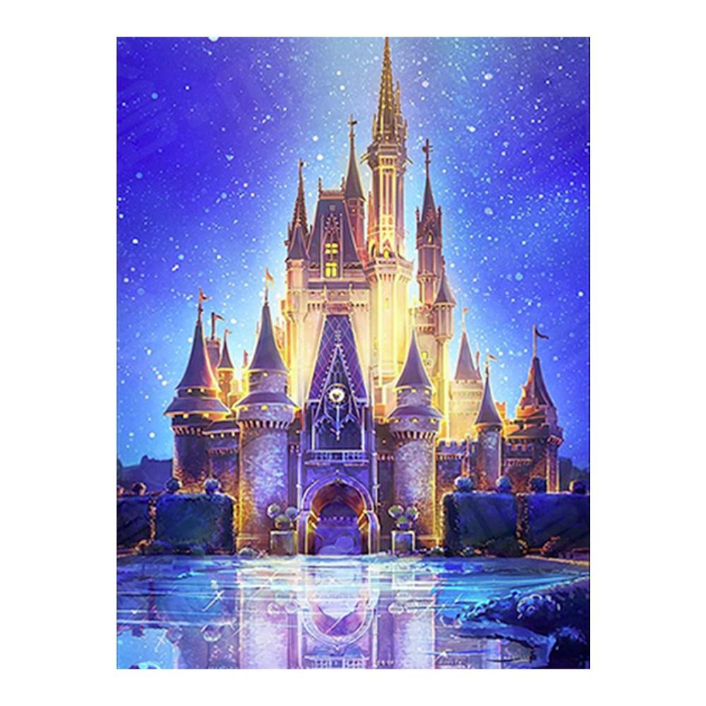 마켓굳음 집에서할수있는취미 집순이 디즈니 겨울왕국엘사 라푼젤 공주 5D 원형 비즈 보석십자수 공예 옵션9, 1개, 30X45cm