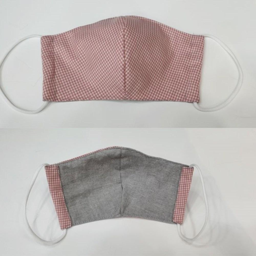 빨아쓰는 일회용 재활용 중형 먼지 일반 체크 무지 마스크 추천, 핑크