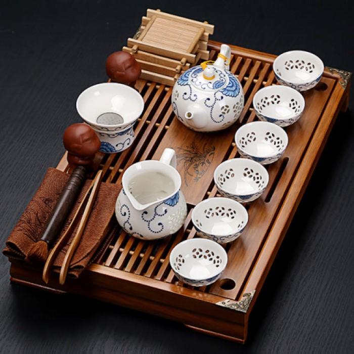 중국 전통 자사호 다기 다도 세트 차판 다관, 옵션1