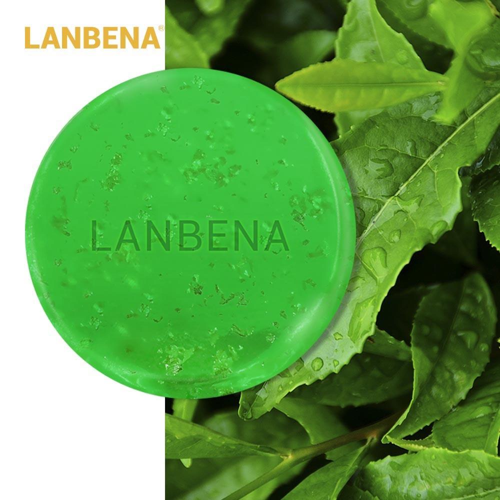 Lanbena 티 트리 에센셜 오일 수제 비누 페이스 클리너 여드름 치료 모이스춰 라이징 블랙 헤드 리무버 안티 에이징 페이스, 단일상품