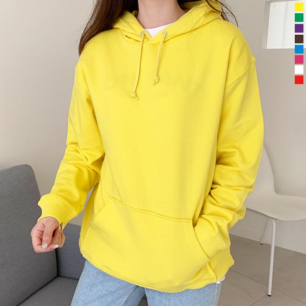 티데일리 젤란 쭈리 후드티 남여공용 무지 후드 티셔츠 S~2XL (8color)