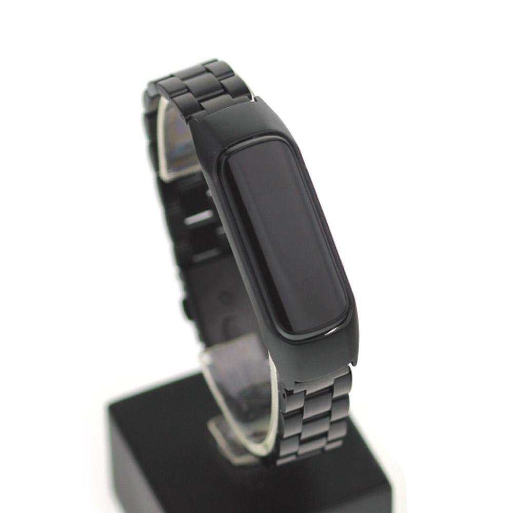 GFEME1BK 갤럭시핏e 스트랩 메탈밴드 피트니스 웨어러블 블랙 호환 시계줄, 단품, 단품