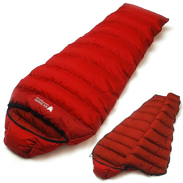켄조 동계 겨울 백패킹 캠핑 구스 침낭 (1900g 버건디) 국내생산, 1개, 버건디 (머미형 구스침낭)
