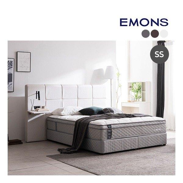 [에몬스] [슈퍼싱글SS] 휴레스트 투매트리스 침대, 색상:아이보리