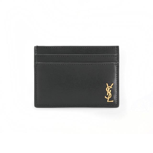 YSL 생로랑 카프스킨 슬림카드지갑 607603 블랙(금장)