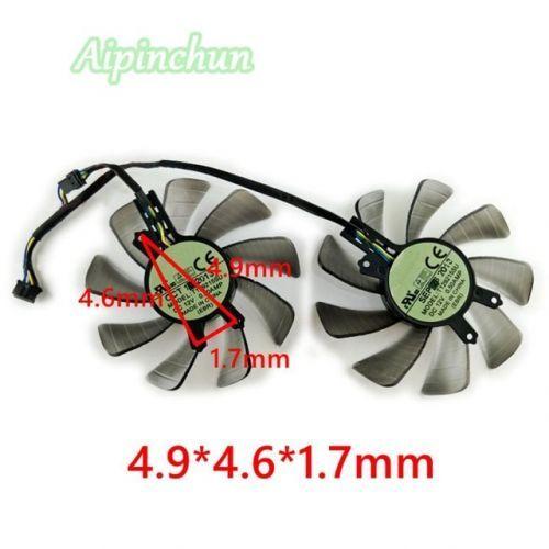 [해외] 핀 T129215SU 85 DC 12 볼트 0.50A 그래픽 카드 냉각 팬 GTX 760 GTX460 HD6790 GTX650TI 비디오 카드 쿨러 팬, 상세내용표시