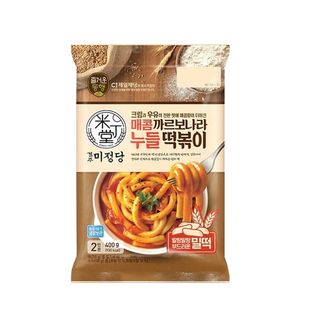 (냉장)미정당 매콤까르보나라 누들떡볶이400g, 1개
