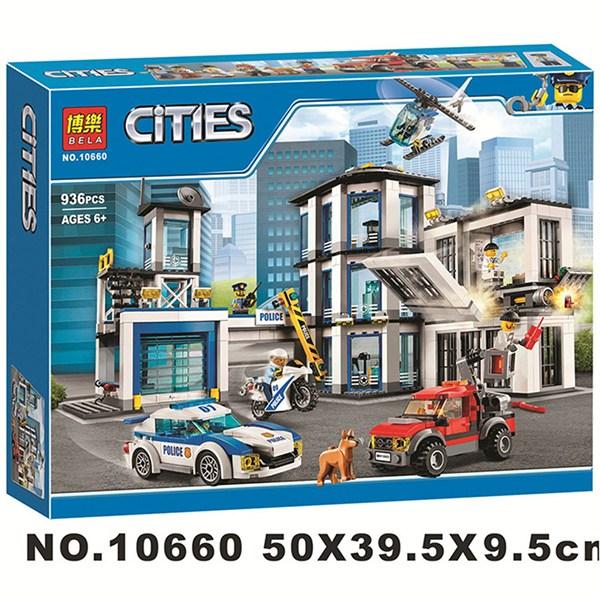 WHLP 중국레고 호환블럭 시티 경찰서 60141 벨라 10660