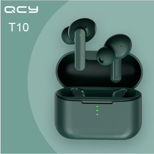 2020최신상 큐씨와이 QCY T10 블루투스 무선 이어폰, 그린