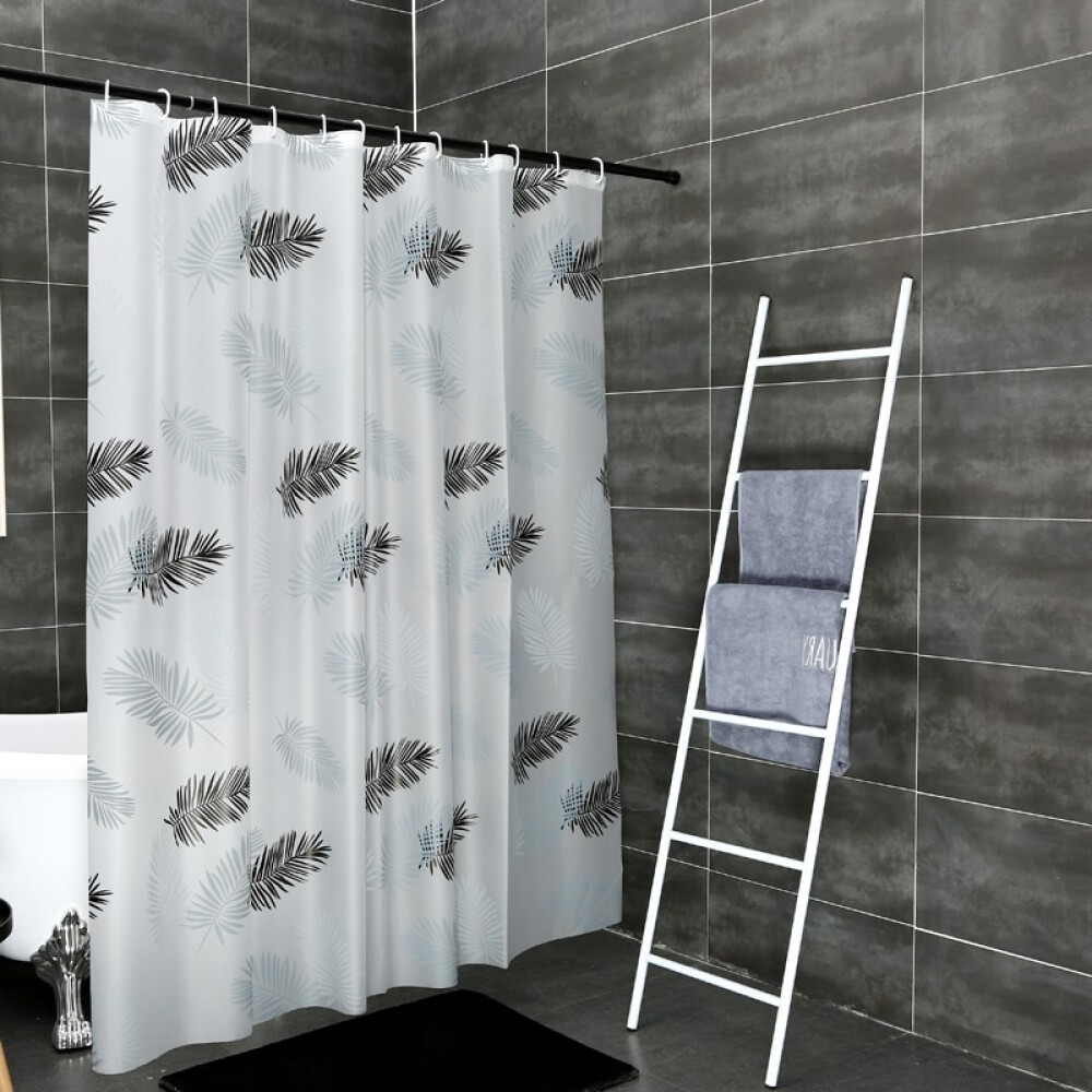 others 욕실 샤워 커튼 화장실 칸막이 샤워실 방수 곰팡이 방지 세트 면 타 공 신축 바 욕 창문 걸 이 문발 가리개 싱글 120 폭 * 180 고 + 링, 상세페이지 참조