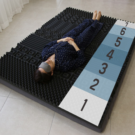 이룸홈 마약매트리스 3단 접이식 바닥 토퍼 수면매트 침대 매트리스, 11cm 멀티싱글