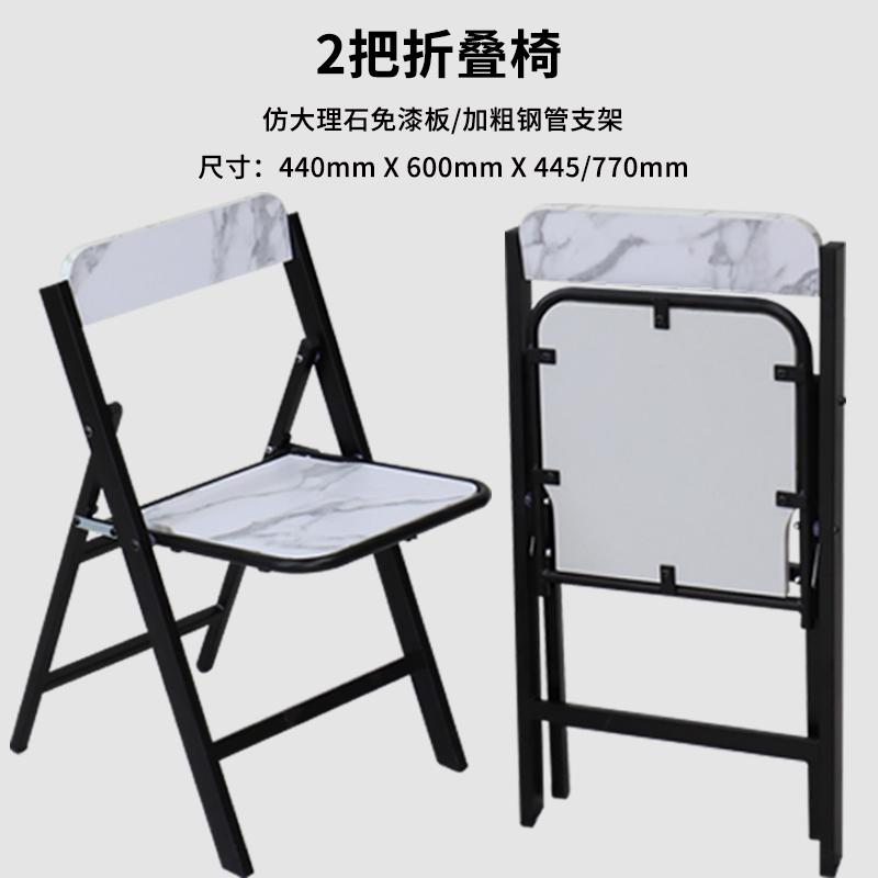 SOFSYS 접이식 라운드 테이블 식탁다용도 공간활용 이동식 테이블, 접는 의자 2 개
