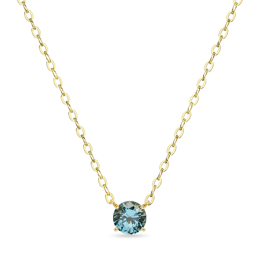 18K 목걸이 0.3캐럿 런던 블루 토파즈 골드 데일리 여친 선물 gold necklace_NQDM8103