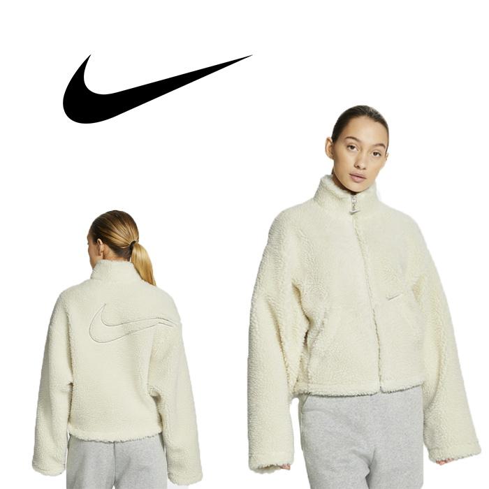 나이키 스우시 재킷 셰르파 화이트 여성 재킷 U6639238