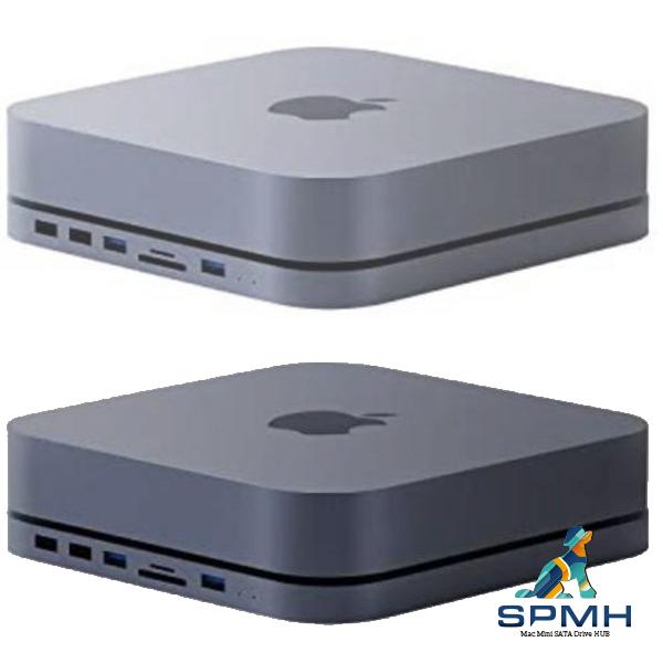 SPMH 맥미니 허브 독 외장 케이스 도킹스테이션 USB-C 저장장치 M1 실버 그레이, X1(실버) (POP 5111184516)