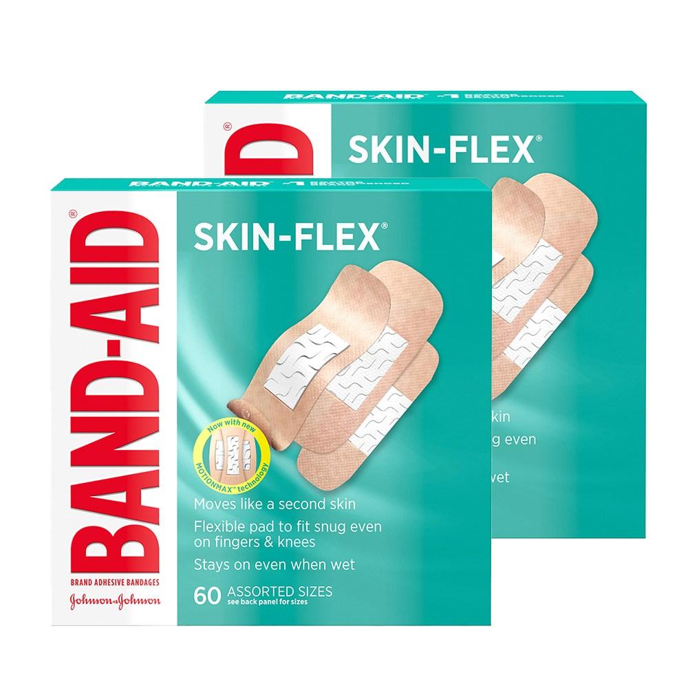 Band-Aid 밴드에이드 스킨-플렉스 상처밴드 반창고 3종사이즈 60개입 2팩 (POP 4846146890)