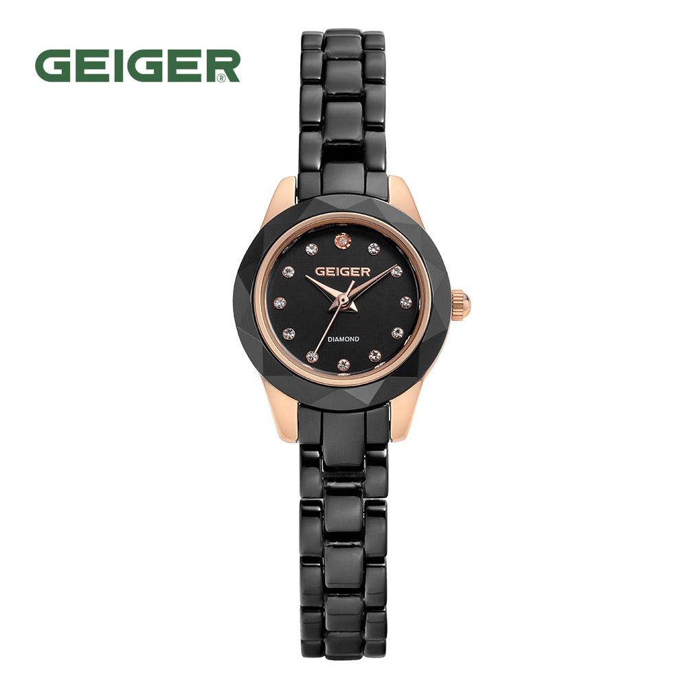 가이거[GEIGER] [본사 정품] 가이거 GE8023 RGB 블랙 세라믹 시계(팔찌 사은품 증정)
