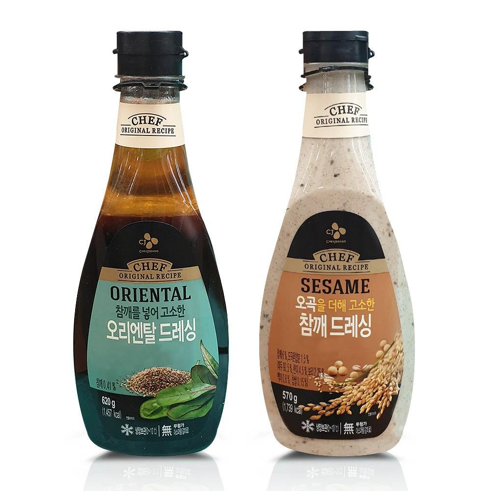 cj제일제당 오리엔탈드레싱+오곡참깨드레싱, 2개